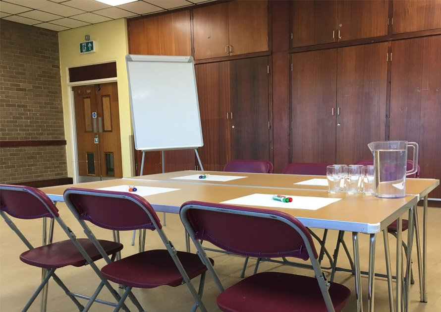 Whitton Sports Centre Community Room set up for business meeting